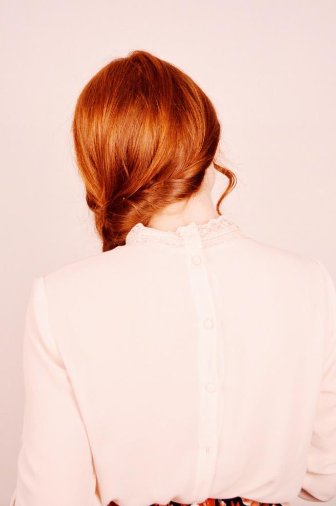 Simple Side Braid with a Twist (literally) | Larkspur Vintage
