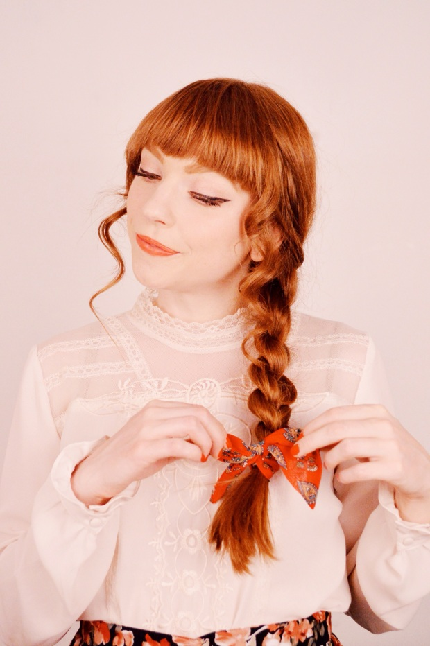 Simple Side Braid with a Twist (literally) | Larkspur Vintage