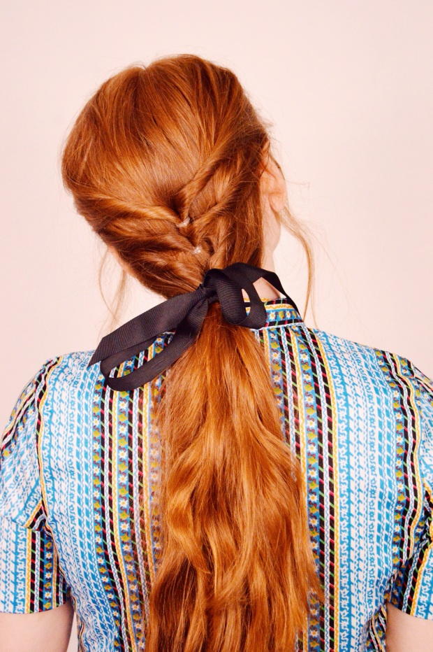 Larkspur Vintage | Beauty: Simple Low Ponytail With Some Twists