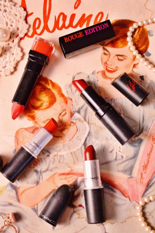 Larkspur Vintage | Beauty: 4 Favourite Red Lipsticks