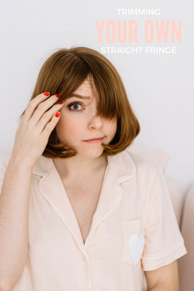 OKAY ANDIE | How-To Trim Your Own Fringe
